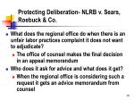 protecting deliberation nlrb v sears roebuck co