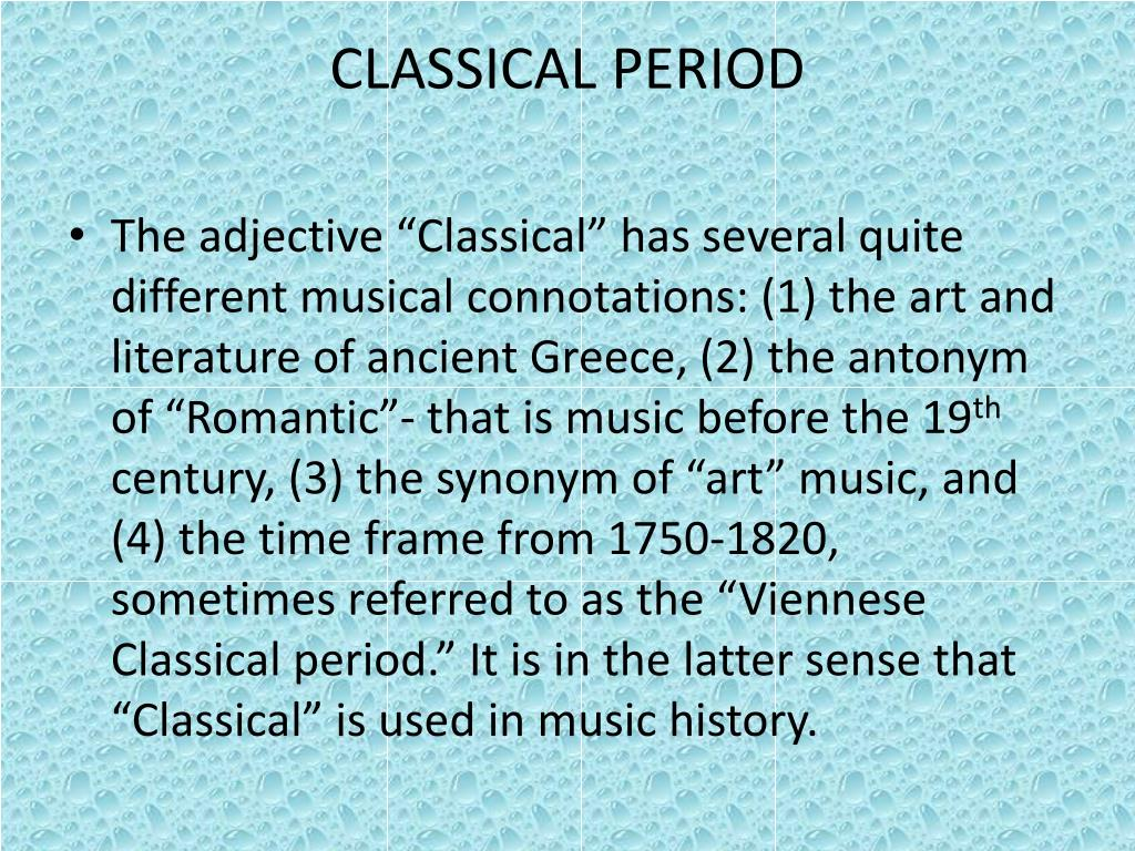 PPT - CLASSICAL 1750-1820 PowerPoint Presentation - ID:1004031