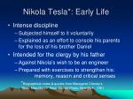nikola tesla early life