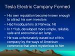 tesla electric company formed