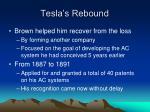 tesla s rebound