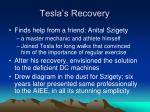tesla s recovery