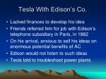tesla with edison s co