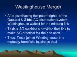 westinghouse merger