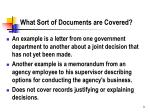 what sort of documents are covered