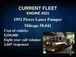 current fleet engine 4523