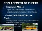 replacement of fleets