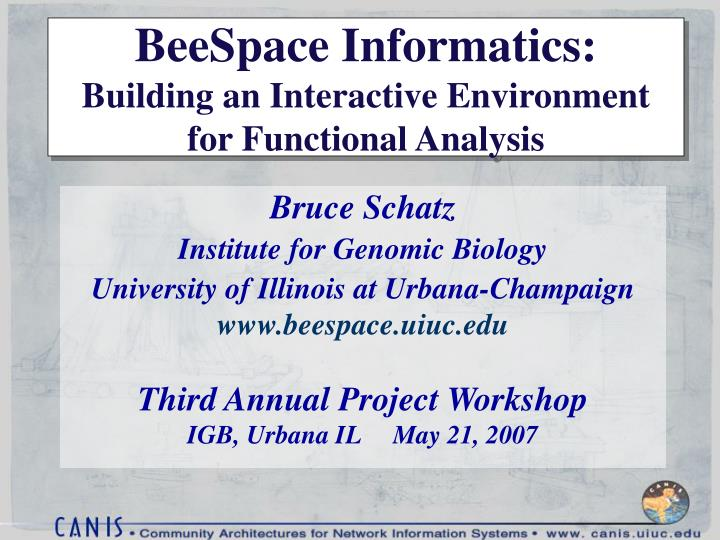 beespace informatics building an interactive environment for functional analysis n.
