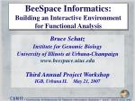 beespace informatics building an interactive environment for functional analysis