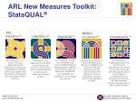 arl new measures toolkit statsqual