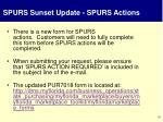 spurs sunset update spurs actions