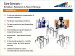 core services exhibition relocation record storage