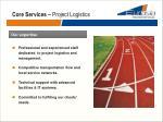 core services project logistics1