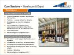 core services warehouse depot