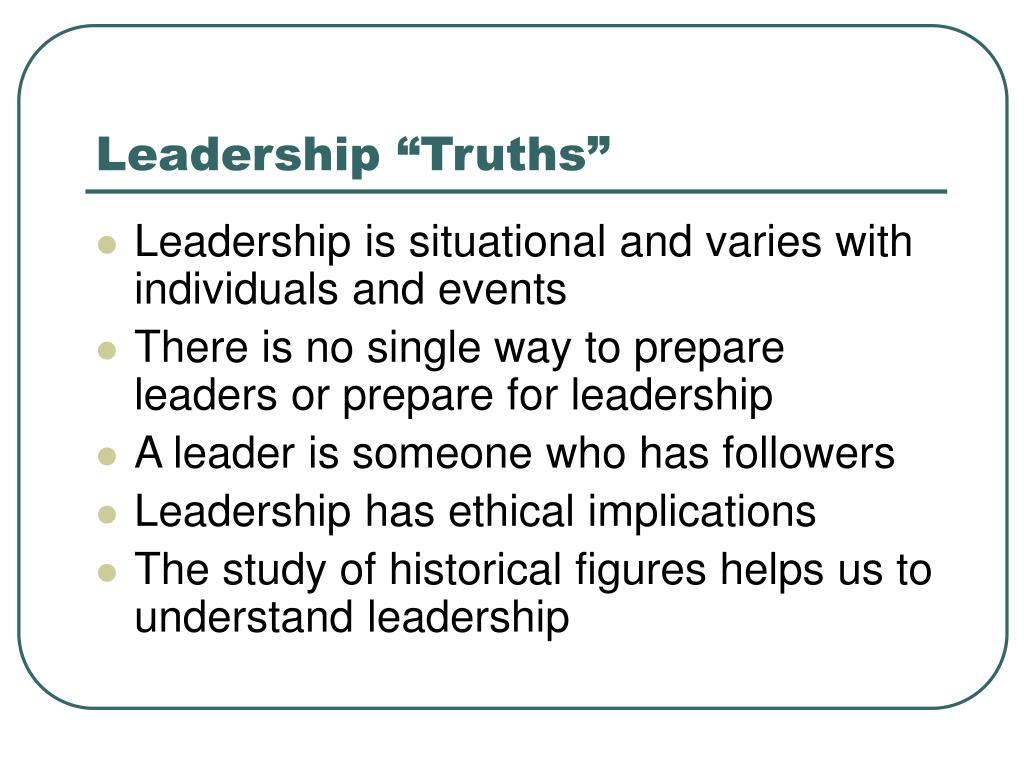"Leadership ""Truths"""