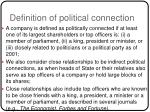 definition of political connection