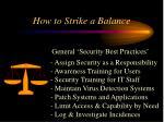 how to strike a balance25