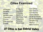 cities examined