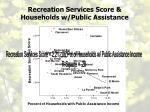 recreation services score households w public assistance