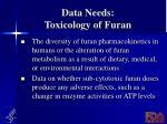 data needs toxicology of furan1