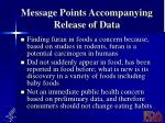 message points accompanying release of data