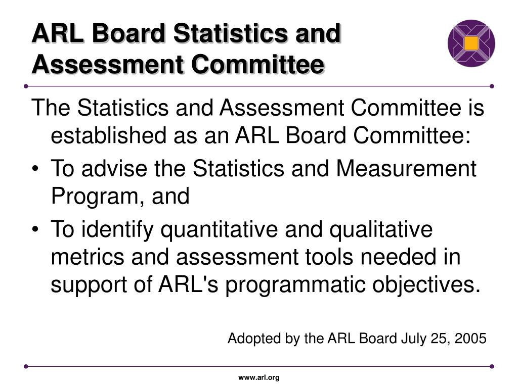 ARL Board Statistics and Assessment Committee