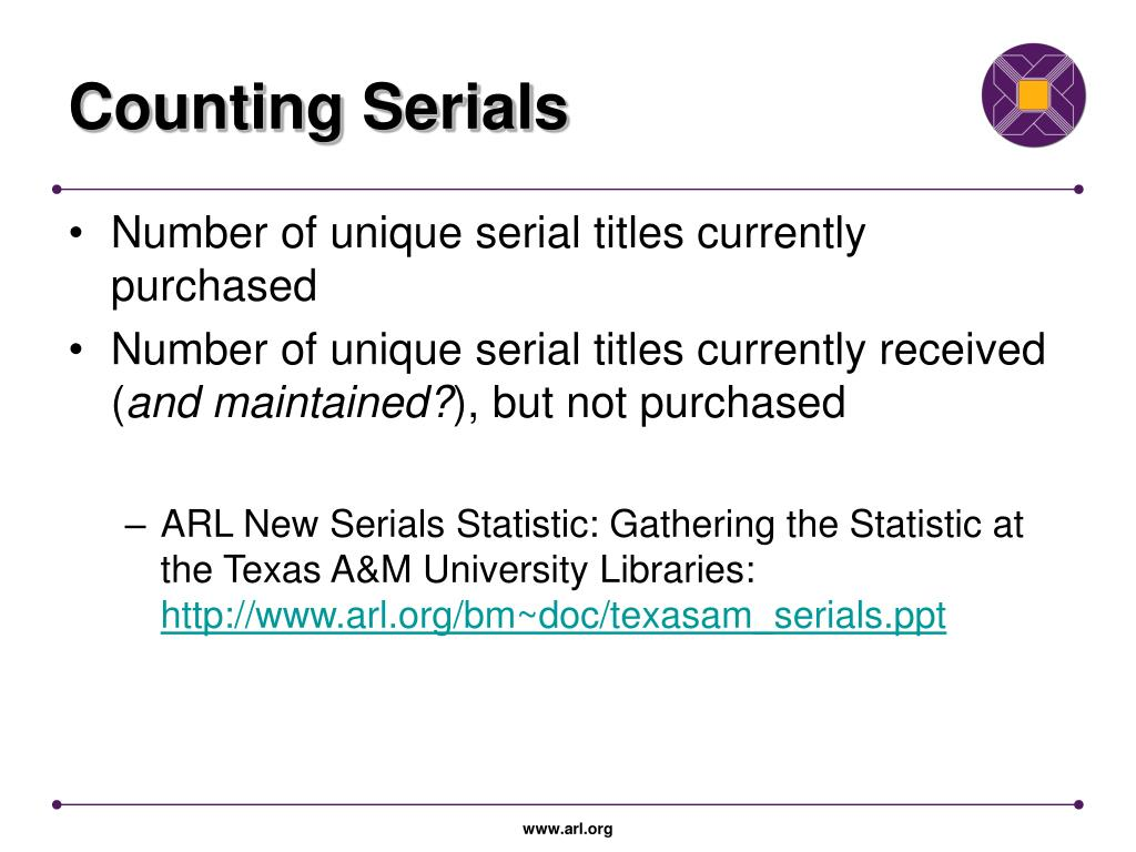 Counting Serials