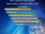 new mexico education innovation sustainability and growth
