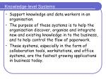 knowledge level systems
