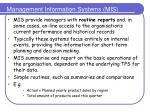 management information systems mis