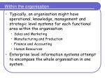 within the organisation