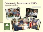 community involvement 1990s engaging the community