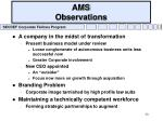 ams observations
