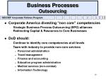 business processes outsourcing