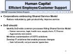 human capital efficient employee customer support