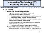 information technology it exploiting the web cont