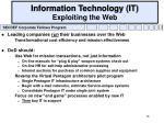 information technology it exploiting the web