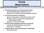oracle observations
