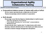 organizational agility collaborative teaming