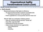 organizational agility transformational culture cont