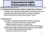 organizational agility transformational culture