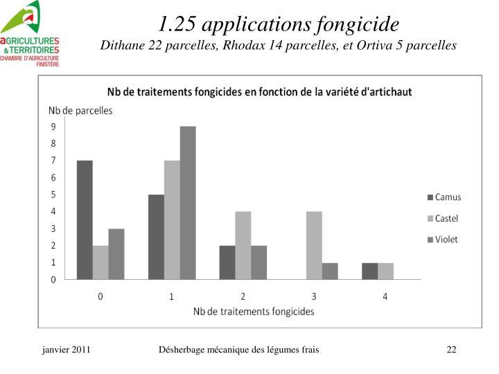 1.25 applications fongicide