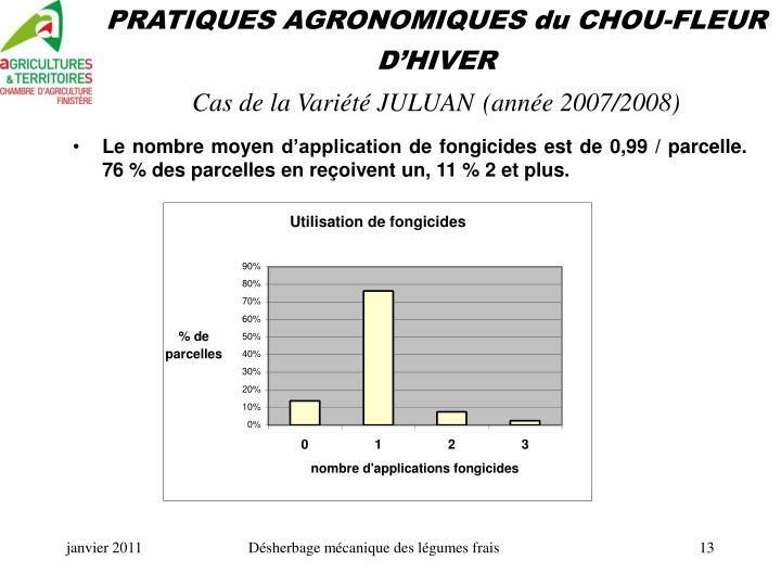 PRATIQUES AGRONOMIQUES du CHOU-FLEUR D'HIVER
