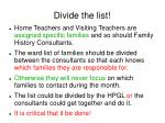 divide the list