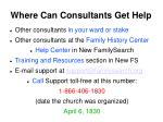 where can consultants get help