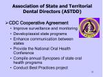 association of state and territorial dental directors astdd