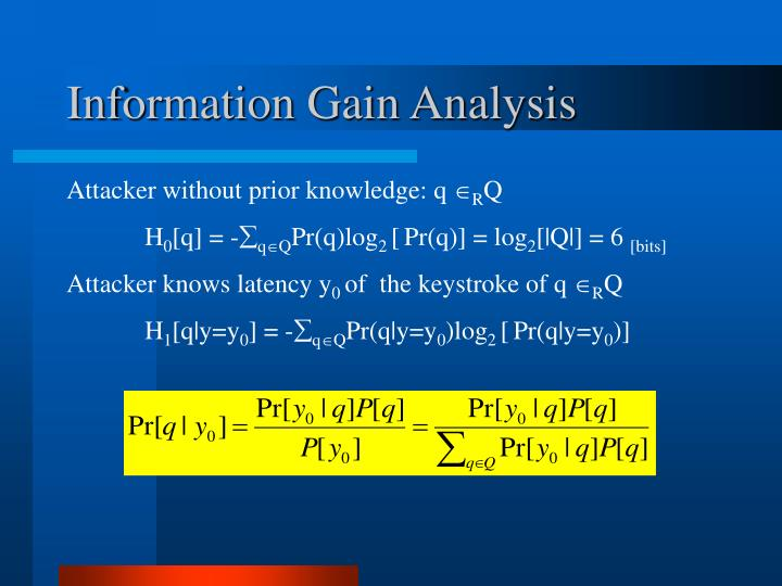 Information Gain Analysis