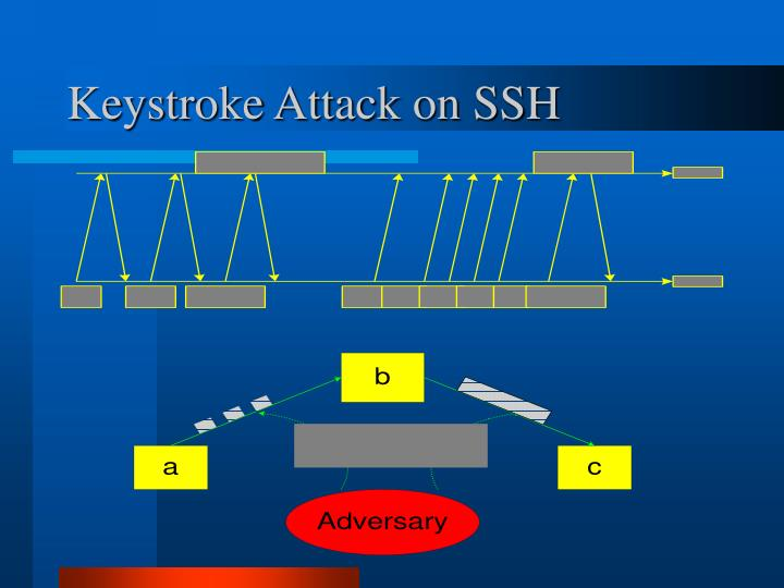 Keystroke Attack on SSH