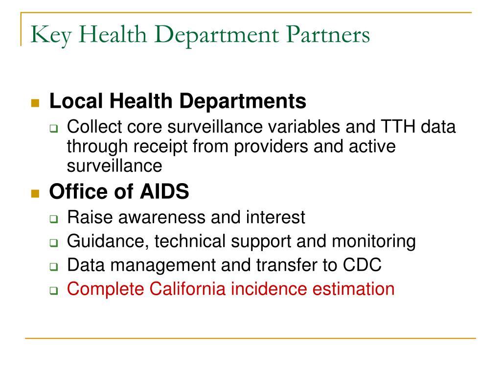 Key Health Department Partners