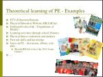 theoretical learning of pe examples
